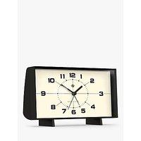 image-Newgate Clocks Wideboy Analogue Alarm Mantel Clock, 20.5cm, Black
