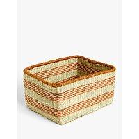 John Lewis and Partners Orange Band Seagrass Basket