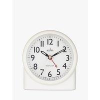 image-Acctim Blake Smartlite Sweep Analogue Alarm Clock, White