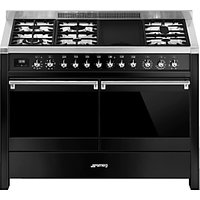 Smeg A4BL-81 Dual Fuel Range Cooker, Gloss Black