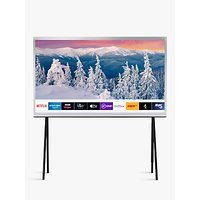 Samsung The Serif (2019) QLED HDR 4K Ultra HD Smart TV, 49 with TVPlus, Apple TV App and Bouroullec Brothers Design, White