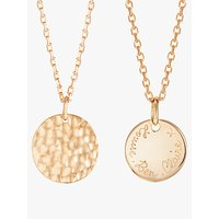 shop for Merci Maman Personalised Small Hammered Pendant Necklace at Shopo