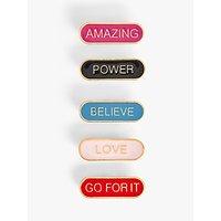 John Lewis & Partners Motivational Slogan Pin Badges, Set of 5