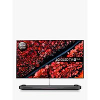 LG OLED77W9PLA (2019) SIGNATURE OLED HDR 4K Ultra HD Smart TV, 77 with Freeview Play/Freesat HD, Picture-On-Wall Design and Dolby Atmos Sound Base Unit, Ultra HD Certified, Black