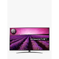 LG 75SM8610PLA LED HDR NanoCell 4K Ultra HD Smart TV, 75 with Freeview Play/Freesat HD, Cinema Screen Design, Dolby Atmos & Crescent Stand, Ultra HD Certified, Black & Dark Silver