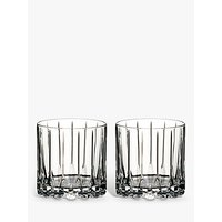 Riedel Bar Rocks Crystal Glass Tumblers, Set of 2, 283ml, Clear