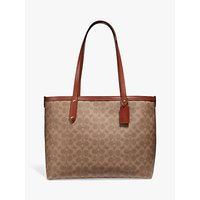 shop for Coach Signature Central Zip Top Tote Bag at Shopo
