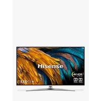 Hisense H50U7BUK (2019) ULED HDR 4K Ultra HD Smart TV, 50 with Freeview Play, Black/Silver