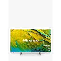 Hisense H55B7500UK (2019) LED HDR 4K Ultra HD Smart TV, 55 with Freeview Play, Black/Silver
