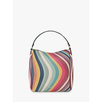 shop for Paul Smith Leather Mini Zip Hobo Bag, Swirl at Shopo