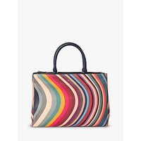 Paul Smith Leather Zip Tote Bag, Swirl