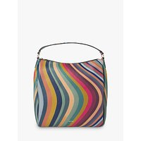 shop for Paul Smith Leather Zip Hobo Bag, Swirl at Shopo