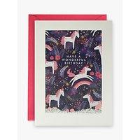 James Ellis Stevens Shakies Unicorn Birthday Card