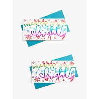 John Lewis & Partners Party Merry & Bright Money Wallet, Pack of 2