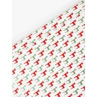 John Lewis & Partners ABC Reindeer Gift Wrap, Multi, 10m