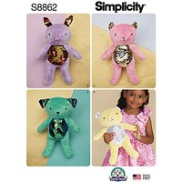 Simplicity Sequin Stuffies, 8662, One Size