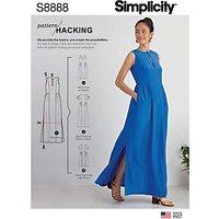 Simplicity Women's Maxi Dress Sewing Pattern, 8888