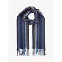John Lewis & Partners Cashmink Vertical Stripe Scarf, Blues