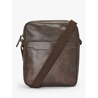 John Lewis and Partners Edinburgh Reporter Bag, Brown