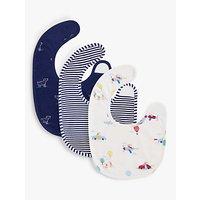 John Lewis & Partners Baby Dog Print Bibs, Pack of 3, Multi