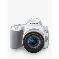 Canon EOS 250D Digital SLR Camera with 18-55mm f/4-5.6 IS STM Lens, 4K Ultra HD, 24.1MP, Wi-Fi, Bluetooth, Optical Viewfinder, 3 Vari-angle Touch Screen, White