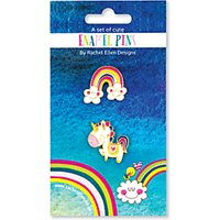 Rachel Ellen Unicorns & Rainbows Enamel Pin Badges