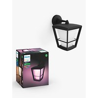 image-Philips Hue White and Colour Ambiance Econic LED Outdoor Wall Lantern, Black