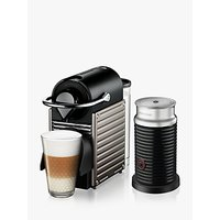 Nespresso Krups Pixie XN305T40 Coffee Machine & Aeroccino3 Milk Frother