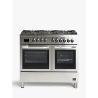 John Lewis and Partners JLRCSS120 Dual Fuel Range Cooker, Stainless Steel