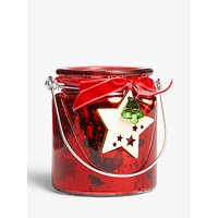 John Lewis & Partners ABC Decorated Tealight Holder, Red