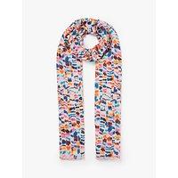 shop for John Lewis & Partners Indira Painted Stripe Cotton Scarf, Multi at Shopo