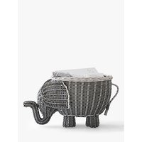 Pottery Barn Kids Elephant Shaped Storage Basket, Grey