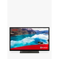 "Toshiba 24WL3A63DB (2019) LED HD Ready 720p Smart TV, 24"" with Freeview HD & Freeview Play, Black"
