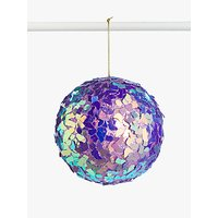 John Lewis & Partners Party Holographic Shard Bauble, Purple
