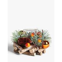 John Lewis & Partners Campfire Berry Single Candle Holder, Orange