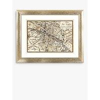 John Lewis & Partners Paris Antique Map Framed Print & Mount, 73 x 93cm, Multi