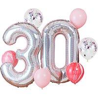 Ginger Ray 30th Birthday Balloon Bundle