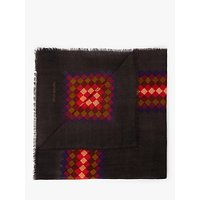 shop for Nice Things Pixel Print Square Wool Shawl, Dark Brown/Multi at Shopo
