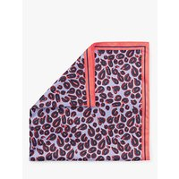 shop for Nice Things Pop Leopard Print Square Scarf, Mauve Mix at Shopo