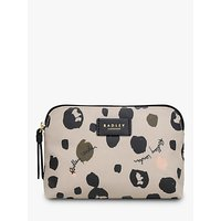 Radley Bubble Dog Wash Bag, Ash Grey