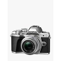 "Olympus OM-D E-M10 Mark III Compact System Camera with 14-42mm II R Lens, 4K Ultra HD, 16.1MP, Wi-Fi, EVF, 3"" LCD Tiltable Touch Screen"