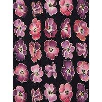 John Kaldor Large Floral Print Fabric, Black/Purple