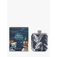 'Ted Baker Leaf Print Single Hip Flask, 350ml