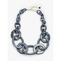 shop for John Lewis & Partners Marble Resin Chain Necklace, Black at Shopo