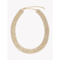 shop for John Lewis & Partners Flat Sparkle Cubic Zirconia Choker Necklace, Gold at Shopo