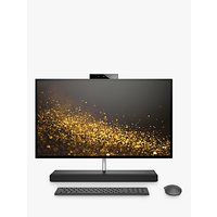 HP ENVY 27-B210NA All-in-One Desktop PC, Intel Core i7 Processor, 8GB RAM, 2TB HDD + 16GB Intel Optane Memory, GeForce GTX 1050, 27 4K Ultra HD, Ash Silver Sparkle