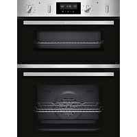 Neff U2GCH7AN0B Built-In Double Electric Oven, A/B Energy Rating, Black