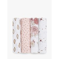 aden + anais Dahlia Baby Swaddle Blanket, Pack of 4