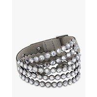 shop for Swarovski Crystal Leather Wrap Bracelet at Shopo