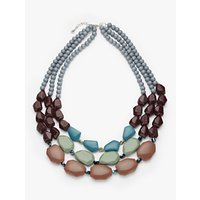 shop for One Button Triple Row Beaded Necklace, Multi at Shopo